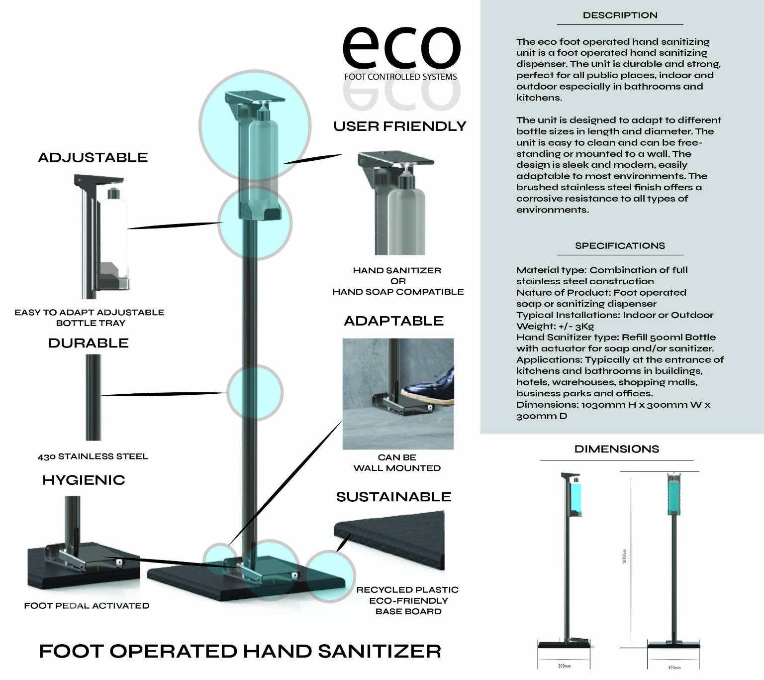 ECO FREESTANDING HAND SANITIZER DISPENSER-04